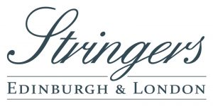 "Logo with text reading ""Stringers Edinburgh and London""."